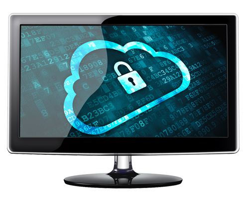 Monitor with cloud lock image