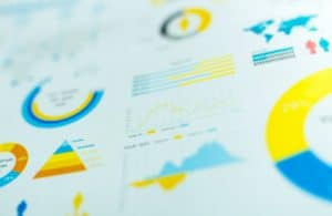 medical practice profitability represented on an image with graphs and charts used to run numbers