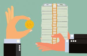 Hands holding money to demonstrate EHR ROI