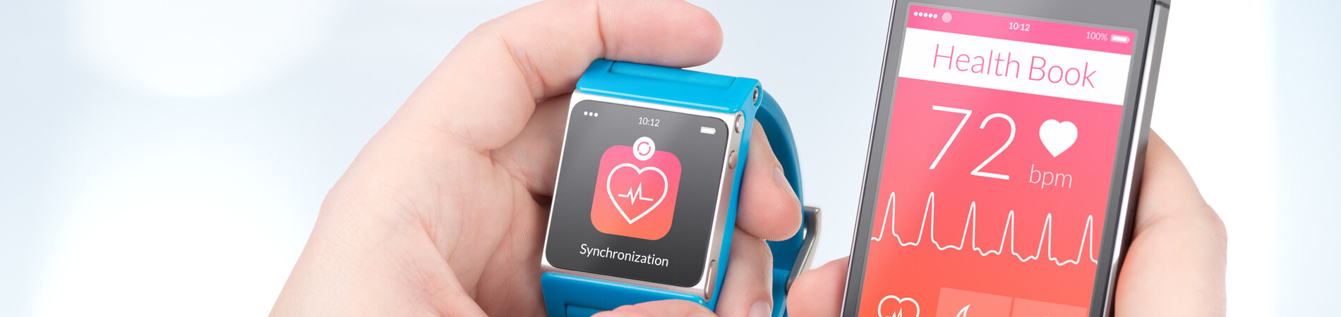 Wearable technology represented through a phone and a smart watch