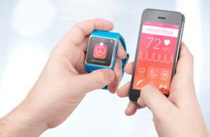 Wearable technology represented through a phone and a smart watch for hipaa compliance