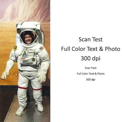 Scan Test Full Color Text & Photo 300 dpi