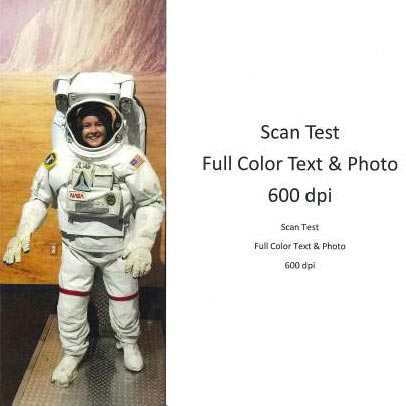 Scan Test Full Color Text & Photo 600dpi