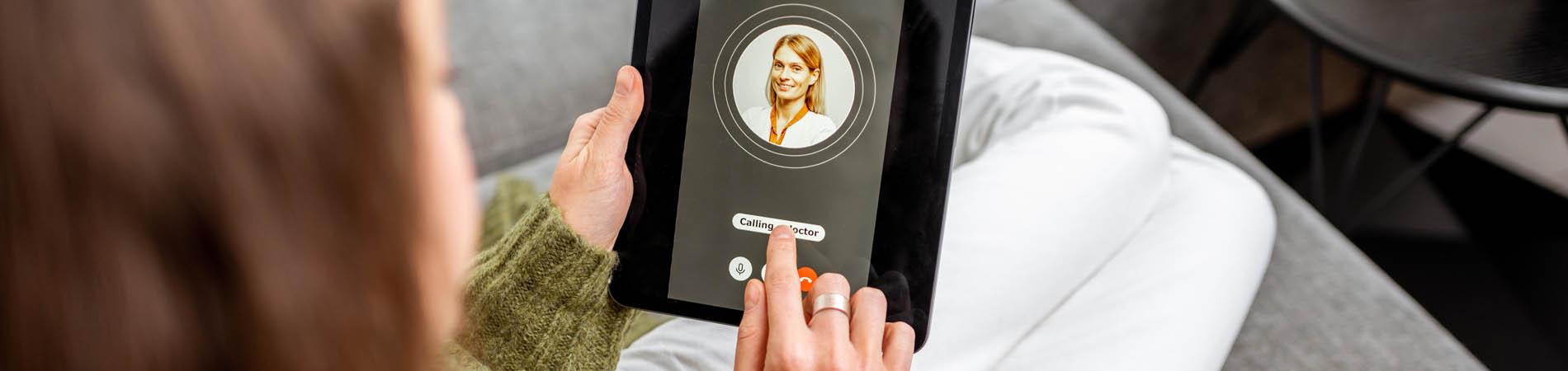 Pateint engagement shown through a telehealth visit